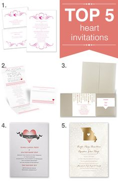 Top 5 heart wedding invitations - Advice and Ideas   Invitations By Dawn