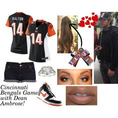 """""""Cincinnati Bengals Game with Dean Ambrose"""" by kelseyylove on Polyvore"""