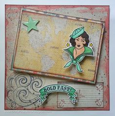 Hold Fast Sailor!  Card made with Bombshell Stamps - more info at CraftyPinkAnchor Blog