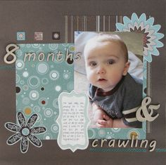 Baby Crawling Scrapbook Layout
