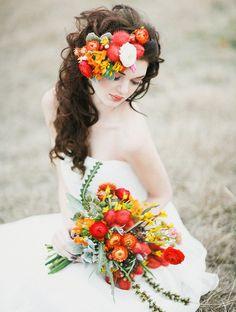 11 фото осенних свадебных букетов для невесты