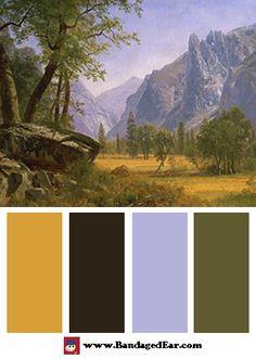 Albert Bierstadt Color Palette: Yosemite Valley - BandagedEar.com