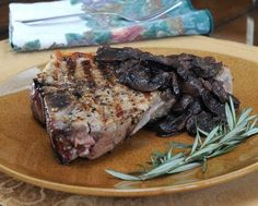 Pepper Steaks with Mushroom-Red Wine Sauce, sirloin or t-bone or ribeye steaks served with mushrooms cooked with red wine and rosemary until...