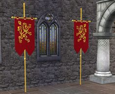 Make lion flags like Group logo to go on pulpit & lectern