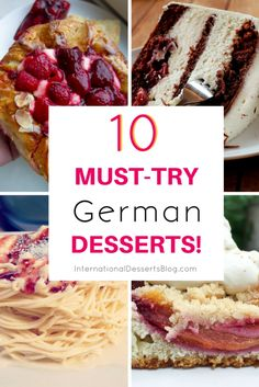 Must-Try German Desserts amp; Sweet Treats I can t wait to try these traditional German desserts!I can t wait to try these traditional German desserts! Easy German Recipes, Authentic German Food Recipe, German Cakes Recipes, French Recipes, Traditional German Desserts, German Plum Cake, Deutsche Desserts, German Baking, Oktoberfest Food