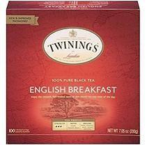 Twinings of London English Breakfast Black Tea Bags, 100 Count (Pack of - Food Best Green Tea, Best Tea, Twinings Tea, Black Tea Bags, Tea Brands, Vintage Tea, Gourmet Recipes, Tea Recipes