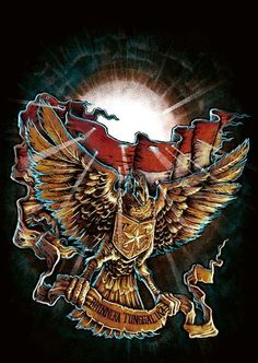 by Greenway Grim Reaper Art, Indonesian Art, Hijab Cartoon, Eagle Logo, Retro Logos, Flash Art, Music Covers, Fantastic Art, Psychedelic Art
