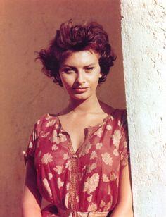 Photo of Sophia Loren. @Jillian Mead. Moltissimi Capelli. Non e vero?