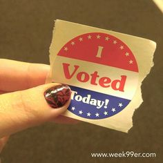 Get up get out and vote today! I was the 11th person at our precinct. Make your voice be heard and #vote!