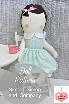 Mimin Dolls: Menina meiga- tutorial - gratis Schnittmuster - free Pattern - Bildanleitung