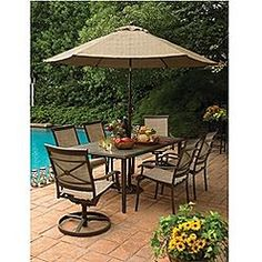 Better homes and gardens mika ridge 5 piece patio dining for Better homes and gardens mika ridge chaise lounge