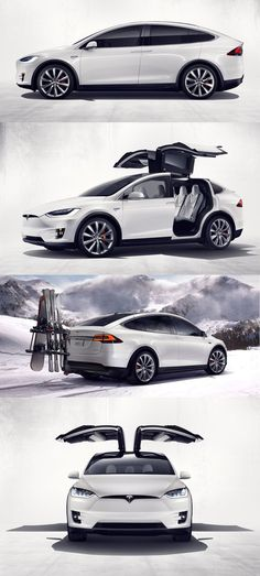 Tesla Model X - pay off for my currently car... Eventually purchase an electronic tesla   You know you have money when you back seat has Delorian style doors