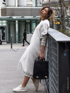 Virginie Peny// Oversize sporty dress by Beaumont Organic, Philippe Model Sneakers. From Zurich, with love! Beaumont Organic, Zurich, Sporty, Couture, Sneakers, Model, Dresses, Style, Social Media