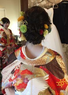 スレンダーな美人花嫁さまのお気に入りドレスと色打掛♡♡ | 大人可愛いブライダルヘアメイク 『tiamo』 の結婚カタログ