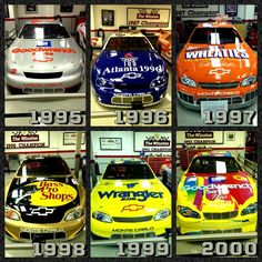 Dale Earnhardt's The Winston All-Star race paint schemes from 1995-2000. He popularized the special, one-time only paint scheme/sponsorship deal, and used them effectively in both merchandise sales and product awareness