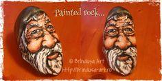 Brîndușa Art Gnome rock I've painted in acrylics... Gnom/ pitic: piatră pe care am pictat-o în culori acrilice... #paintedrock #piatrapictata #rocks #rockart #gnome #gnom #fairytale #acrylics #acrilice #BrindusaArt #handmade #unicat #funny