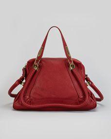 Paraty Medium Shoulder Bag, Red