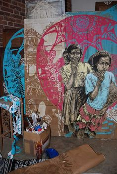 Better link to the article about some of  Swoon's work: brooklyn-street-art-swoon-murmuration-black-rat-projects-mike-snelle-11-11-web-3