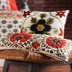Sarita Handa Suzani Decorative Pillow Pair