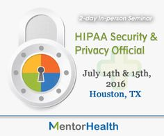 Being the HIPAA Security and Privacy Official involves not only ensuring you know the appropriate patient rights and controls on your uses and disclosures of protected health information, but you also have the proper policies and procedures in place.  http://www.mentorhealth.com/control/globalseminars/~product_id=200074SEMINAR