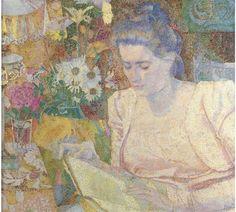 Jan Toorop - Portret van mevrouw M.J. de Lange - Portrait of Mrs M.J. de Lange; Creation Date: 1900; Medium: oil on canvas