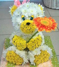Made with flowers Rangoli Designs Flower, Flower Rangoli, Deco Floral, Floral Design, Diy Flowers, Flower Decorations, Get Well Soon Gifts, Cactus Plants, Cacti