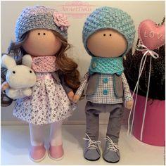 Купить Интерьерная текстильная кукла Влюбленная пара - День Святого Валентина, 14 февраля