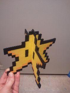 Perler Mario Star Tree Topper