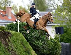 The moment you realise there's no going back....Ben Maher and Alfredo in the Hickstead Jumping Derby #showjumping