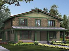Craftsman House Plan with 3170 Square Feet and 3 Bedrooms from Dream Home Source   House Plan Code DHSW55300