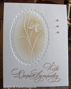 Our Little Inspirations -- beautiful sympathy card.