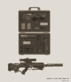 G38 modular weapon system, by biometal79