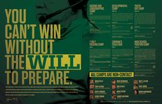 2014 Notre Dame Football Camp Brochure. Designed as a folded piece with camp information and keep sake poster.