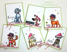 Paws-atively perfect Christmas cards. Get your Crazy Dogs and Crazy Cats from Tim Holtz at Scrapbook.com.