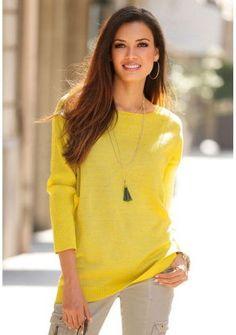 Pulovr s pružným vzorem #ModinoCZ #jumper #pullover #sweater #yellow #fashion #colour #svetr #zluta #moda