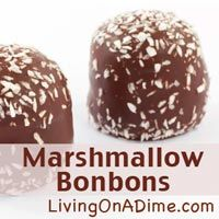 Looking for an easy and inexpensive activity to do with your kids? You can make these chocolate covered marshmallow bonbons in less than 10 minutes for around $1.50. Click here to get this yummy #recipe http://www.livingonadime.com/marshmallow-bonbons/  .