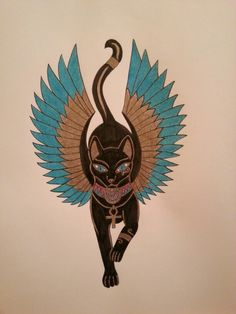 (notitle) – narinoktay – Join the world of pin Egyptian Cat Tattoos, Egyptian Cats, Ancient Egypt Art, Frida Art, Egyptian Goddess, Cat Drawing, Cat Art, Blackwork, Illustration Art