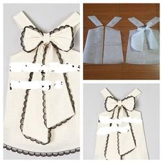 Kids dress pattern with bow back. Order by line : (with Baby Girl Dress Patterns, Baby Clothes Patterns, Sewing Patterns Girls, Girls Dresses Sewing, Little Girl Dresses, Diy Crafts Dress, Baby Summer Dresses, Handmade Clothes, Baby Sewing
