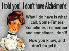 Sometimers vs Alzheimers