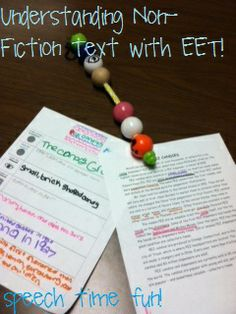 Speech Time Fun: More uses of EET!! Understanding Non-Fiction Texts & Creative Writing! Pinned by SOS Inc. Resources. Follow all our boards at pinterest.com/sostherapy for therapy resources.
