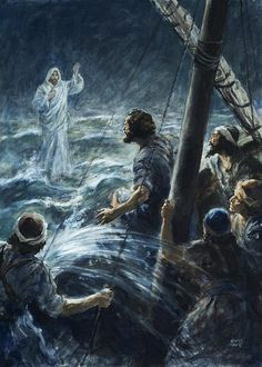 Christ Walking On The Sea Of Galilee Painting
