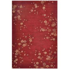 Punctuated with bold and large-scale designs, this playful rug features hand-tufted polyester construction. This rug is highlighted by red and ivory colors in a holiday design.