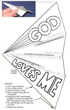 Paper airplane, God loves me: