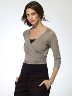Shimmer Ballet Wrap Sweater