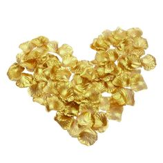 1000pcs/lot Gold Silver Silk Artificial Flower Rose Petals Wedding Decoration - Wedding Look