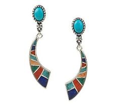 Southwestern Sterling Turquoise & Inlay