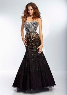 black and silver long evening dress   ... Long Black Organza Silver Gold Ombre Beaded Prom Dress Corset Back