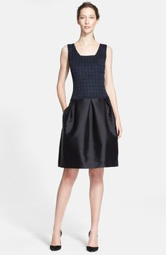 St. John Collection Etched Geo Sparkle Jacquard & Mikado Satin Dress available at #Nordstrom