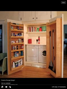Secret utility cupboard
