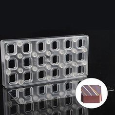 Rectangle DIY Chocolate Transfer Sheet Custom Molds Magnetic Polycarbonate Mould